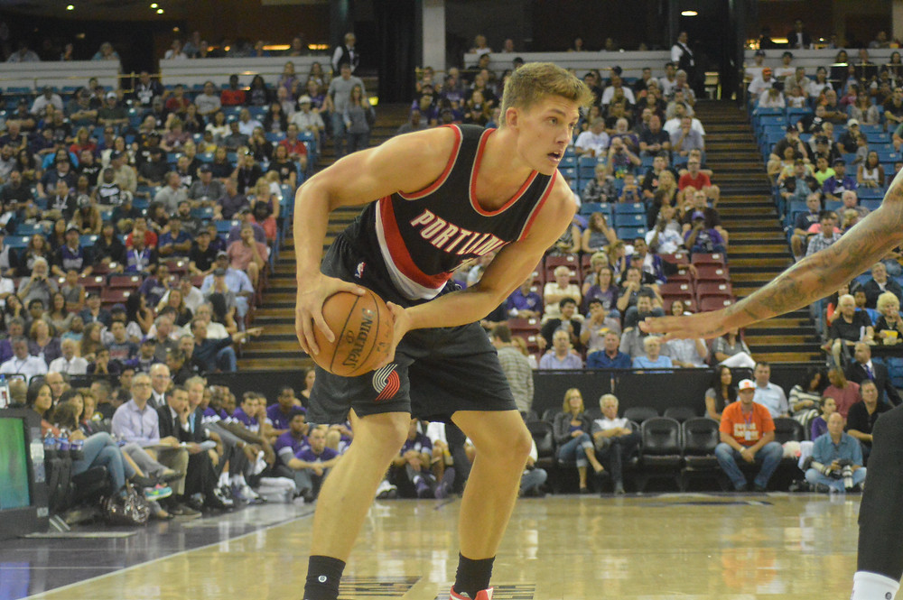 Meyers Leonard at Sleep Train Arena in Sacramento, Calif., Dec. 27, 2015.