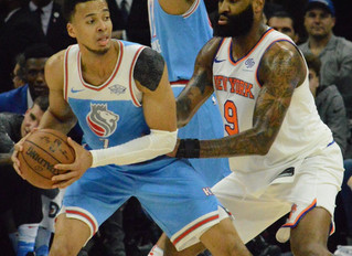 Sacramento Kings' Labissiere's 3-Point Shot With 1.6 Seconds Left To Play Sinks New York Kni