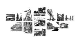 Mackinac Island Block Print Series