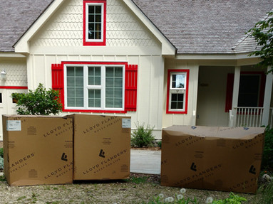 Boxes can be delivered to your door.