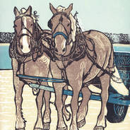 Dray Team on the Dock - Horse Print