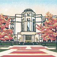 Michigan Supreme Court #1 - Multicolor Linoleum Block Print