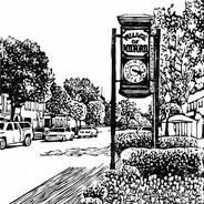 Milford Clock - Michigan Print