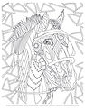 Free downloadable horse coloring page