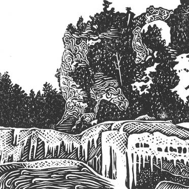 Arch Rock in Winter - Mackinac Island Print