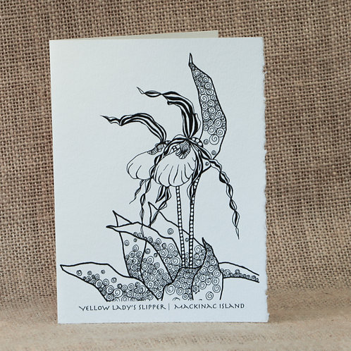 Coloring Cards   Lady's Slipper