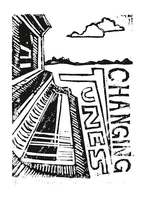 Changing Tunes | Mini Original Block Print