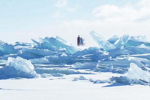 Mist Over Blue Ice