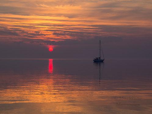 Straits Sunrise & Sailboat