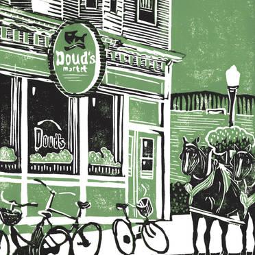 Doud's Market - Mackinac Island Print