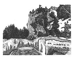Arch Rock in Winter