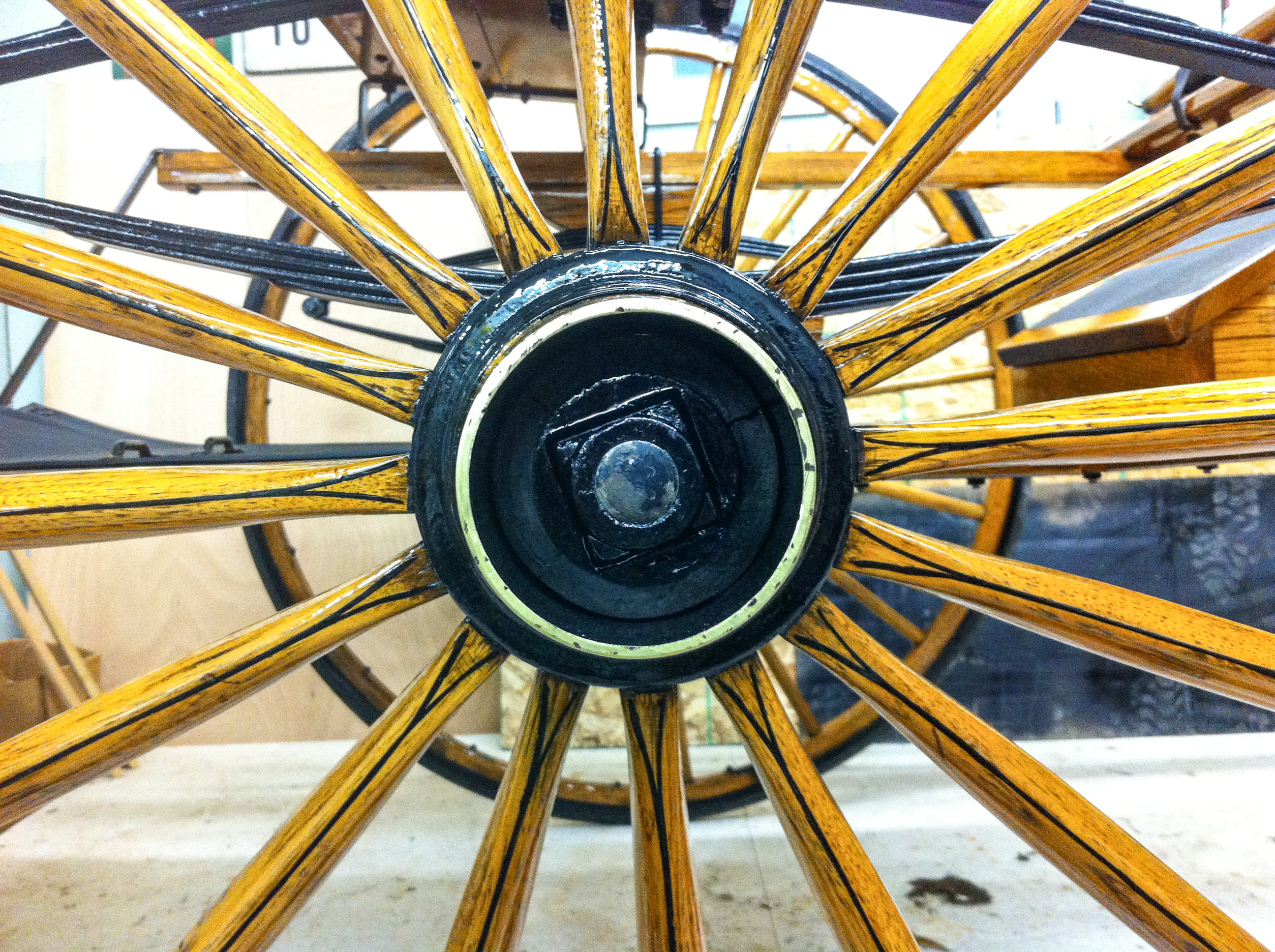 Antique Carriage Wheel