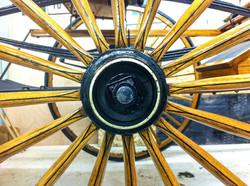 Antique Carriage Wheel