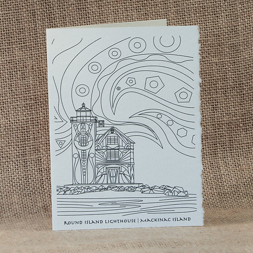 Coloring Cards | Round Island Light House