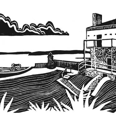 Fort Mackinac Blockhouse - Mackinac Island Print