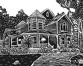 Black & White Architecture Block Print