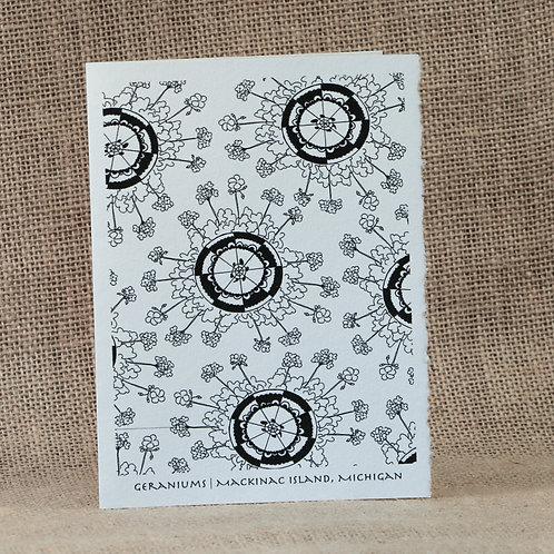 Coloring Cards | Geranium