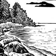 Peninsula - Shoreline Print