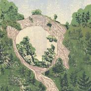 Arch Rock From Below - Mackinac Island Print