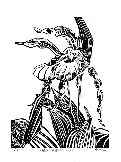 Lady's Slipper | Original Block Prints