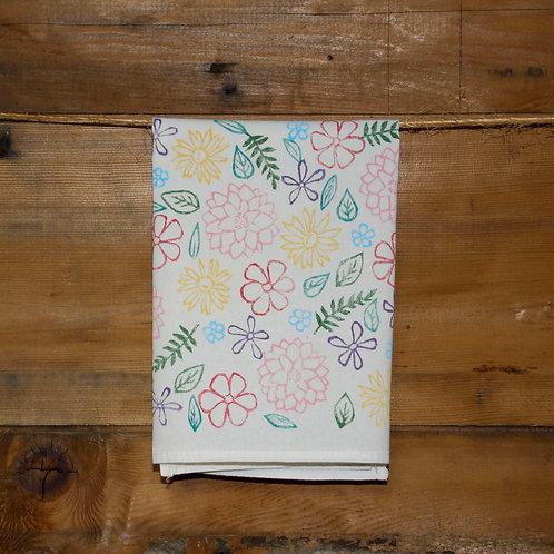 """""""In The Garden"""" Tea Towel"""