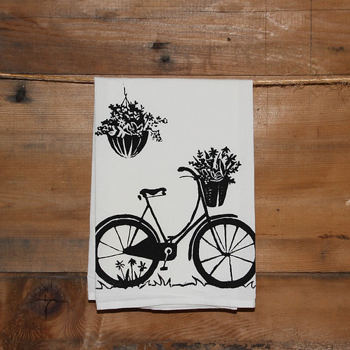 Island Bike Tea Towel