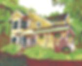 Multicolor Architecture block print