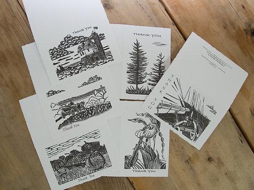 Thank You Notecards | Block Print