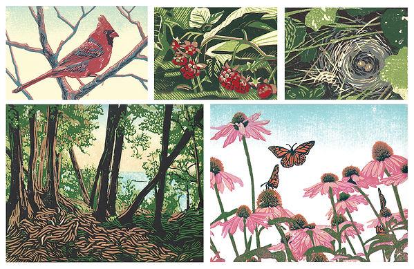 Block prints by Natalia Wohletz