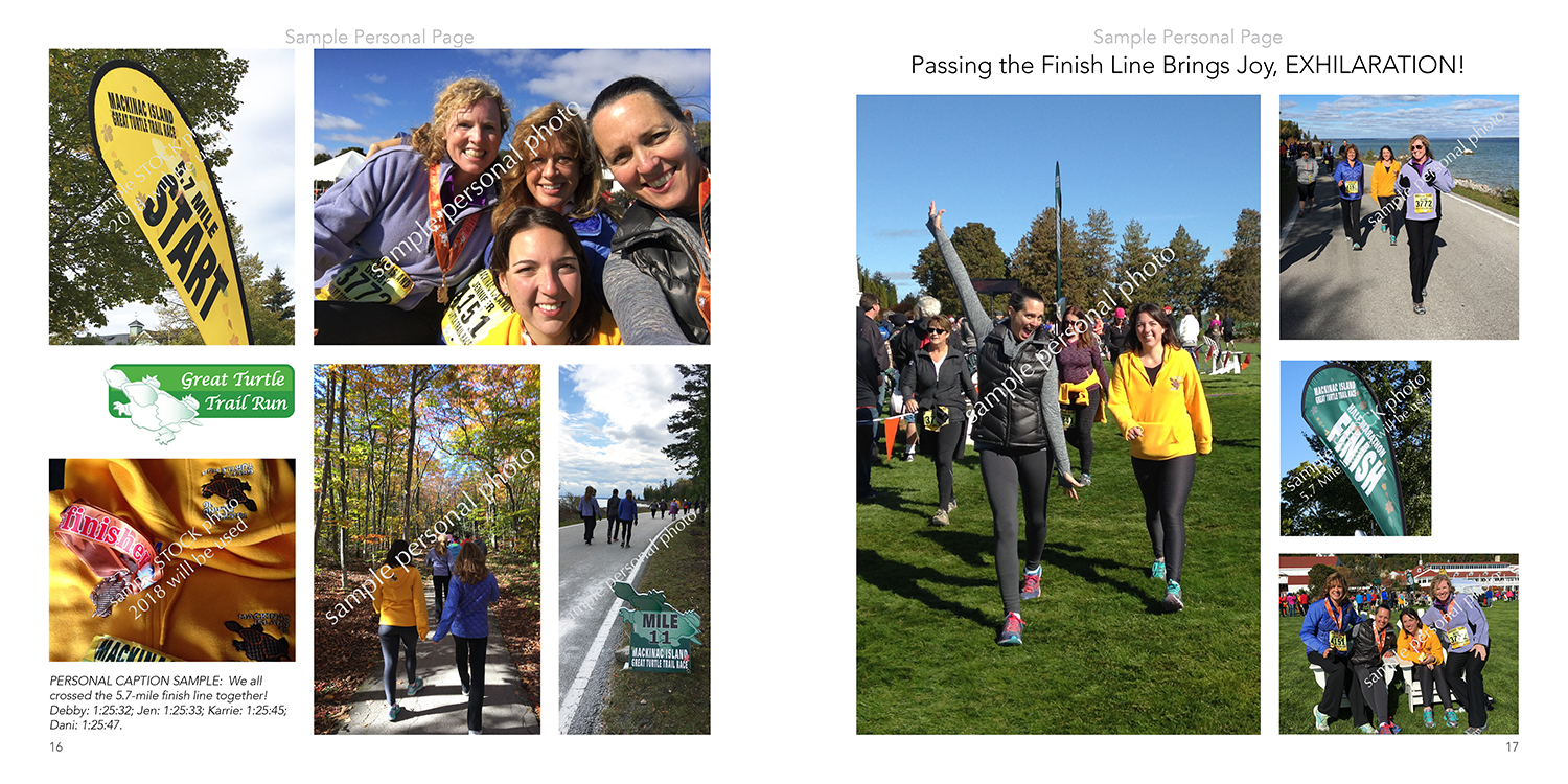 sample 5.7-mile personal page