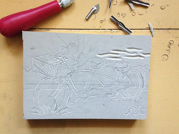 Block Print Carving Process
