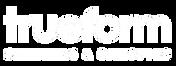 Trueform Shelters & canopies logo white.