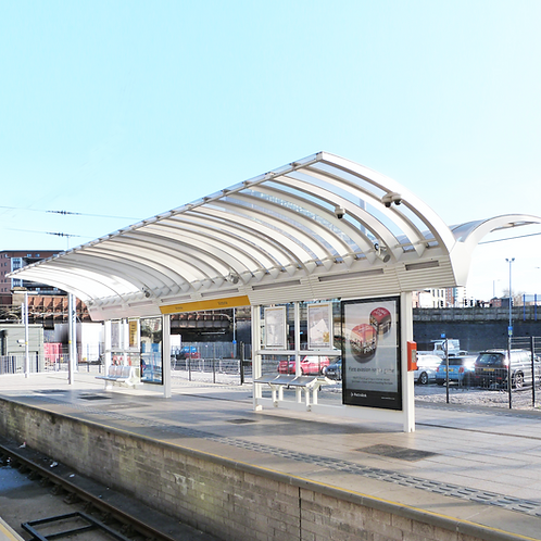 TfGM Victoria Gullwing Waiting Shelter