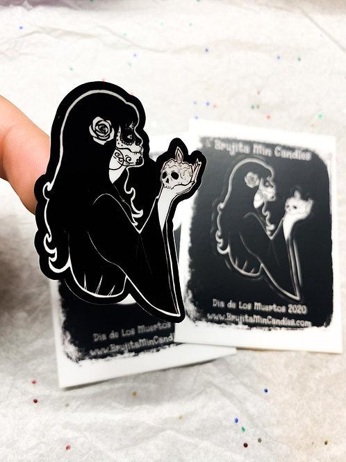 Dia De Los Muertos Brujita Stickers