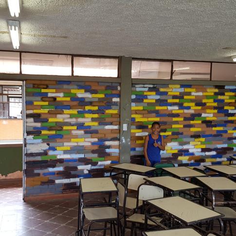 Pintura da área interna da sala