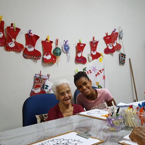 Visita ao Lar Dona Paula com a Camila