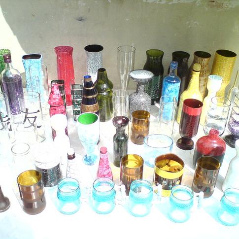 Oficina de reciclagem de vidros da artista plástica Valéria Zuppo