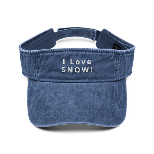 I Love SNOW! Visor