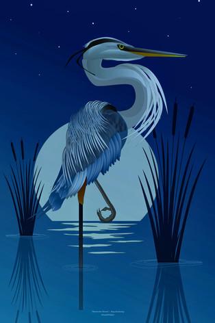 Moonlight Heron