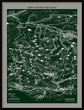 Colorado's High Country Illustrated Map