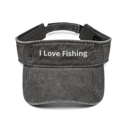 I Love Fishing Visor