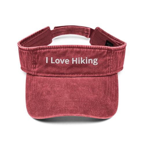 I Love Hiking Visor