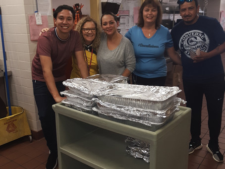 Thanks to the brilliant staff at North Grade for this thanksgiving meal donation.