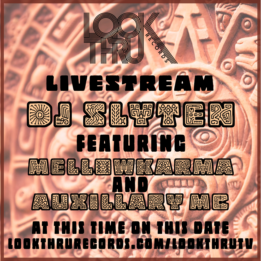 DJ SLYTEN Live Stream Flier