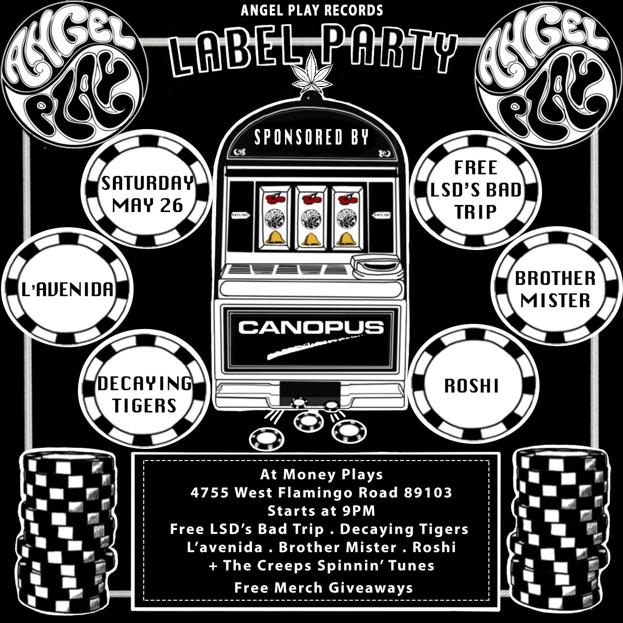 Record Label Party Flier