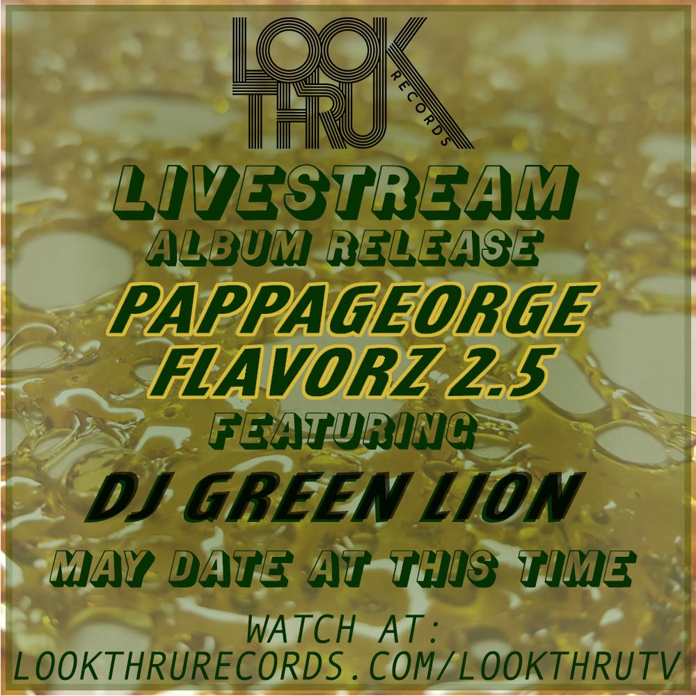 DJ GREEN LION Live Stream Flier