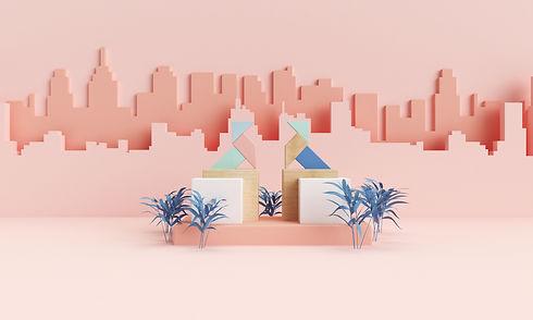 Ilustración en 3D de las pajaritas de Huesca