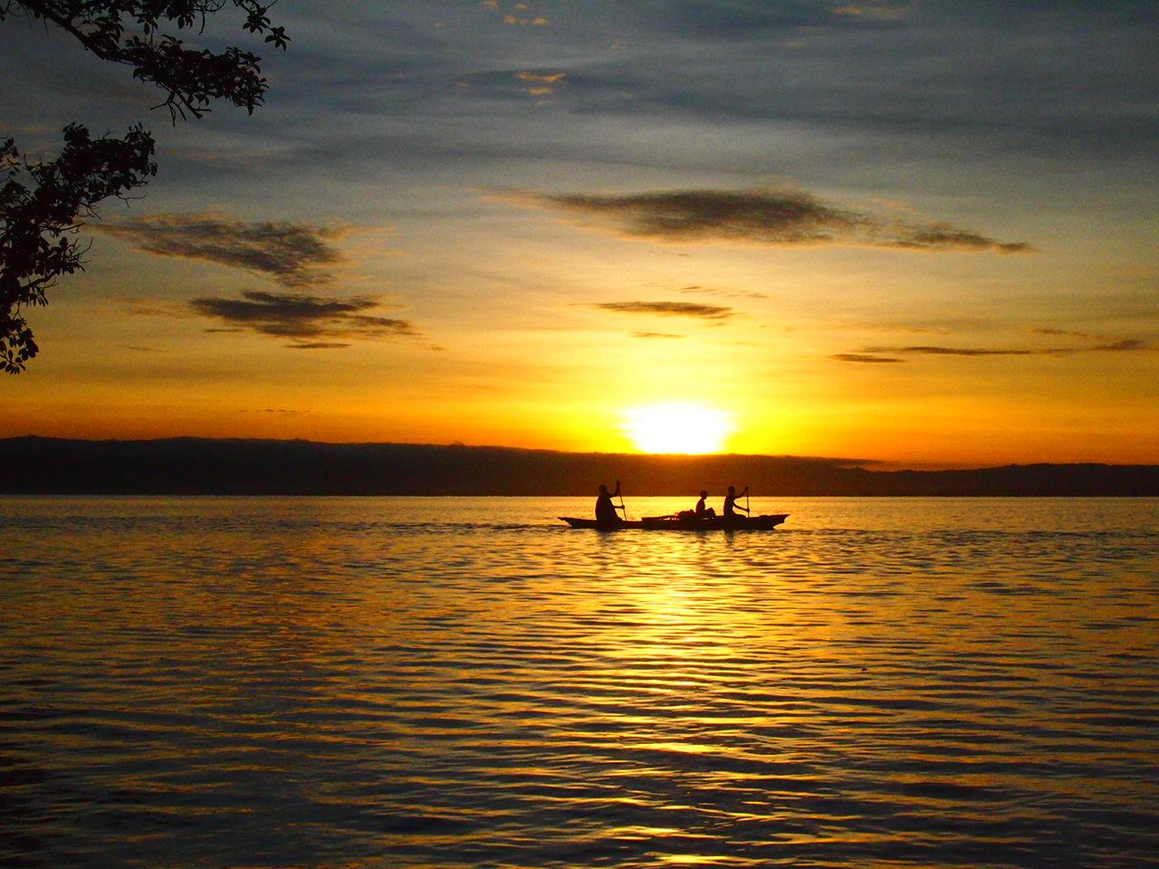 Canoe in Papua New Guinea