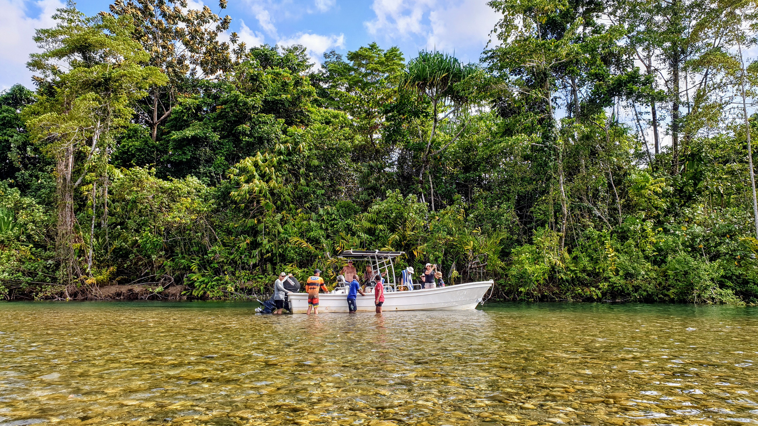 Swimming in River - Baia Sportfishing - Papua New Guinea