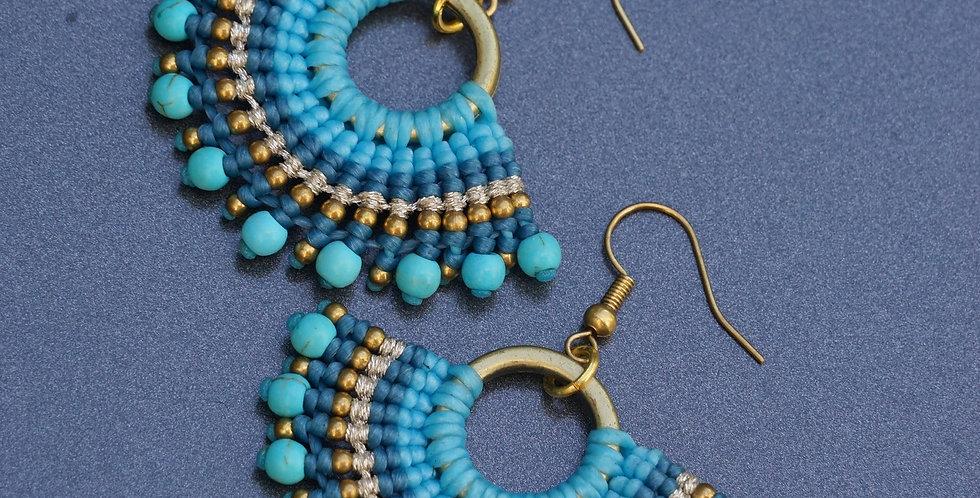 Zambilla & Co Blue Earrings